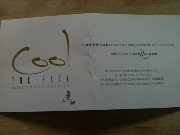invitacion cool the sack