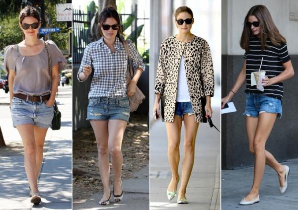 el short-jeans V