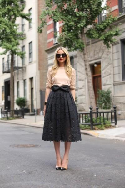 falda encaje