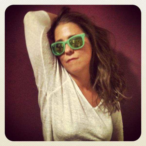 gafas-cristal-espejo rayban verdes. fanny II