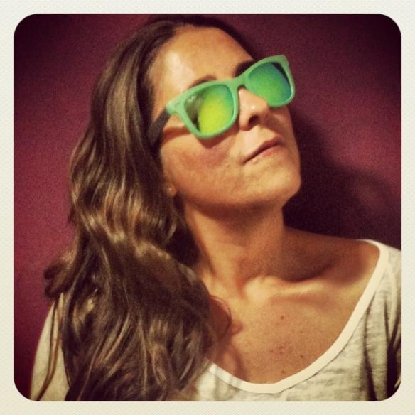 gafas-cristal-espejo rayban verdes. fanny