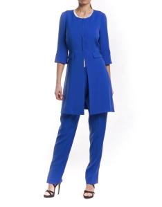 azul klein abrigo-con-cuello-redondo RV