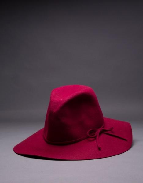 RV sombrero en fieltro burdeos