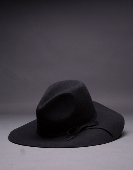 RV sombrero en fieltro negro