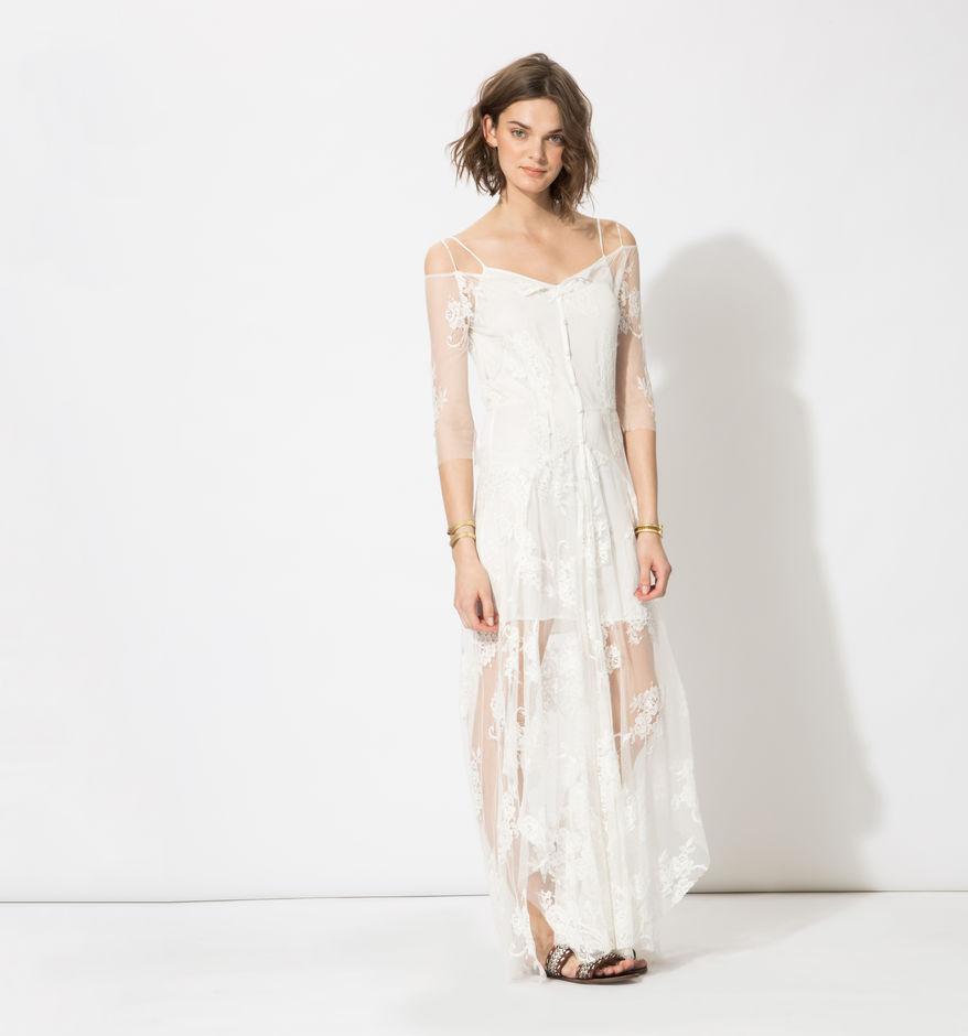 Vestido de encaje blanco, Maje. 295€