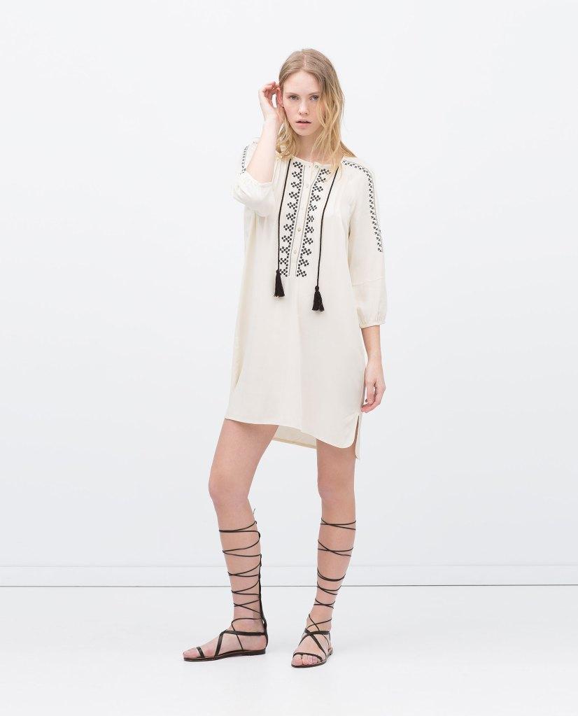 Tunica Bordada de Zara, 29,95€.